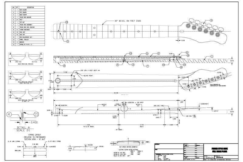 strat neck template - full scale tele style plans telecaster guitar forum